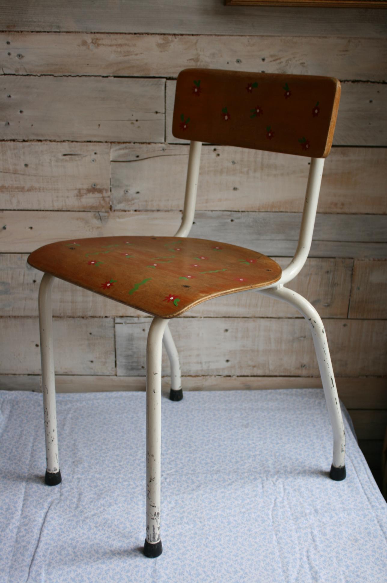 Spiksplinternieuw Verkocht Kinderstoel, Riemersma retro hout met metaal - Childrens GF-45