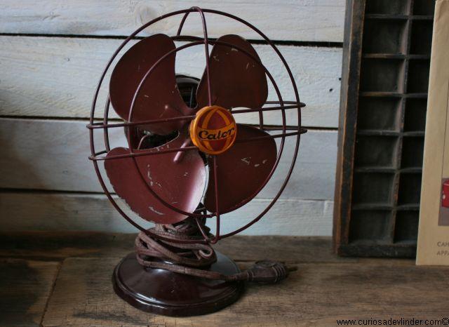 Verkocht Calor bakelieten ventilator klein Bakelite,Calor
